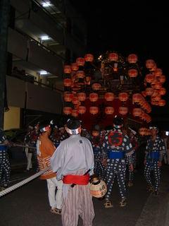 天王祭 夜の山車04
