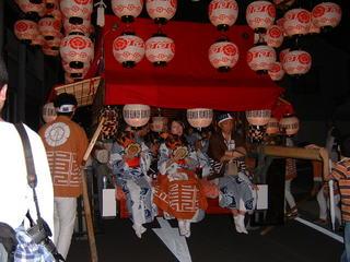 天王祭 夜の山車03