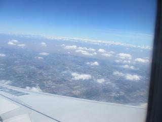 飛行機より(帰路)